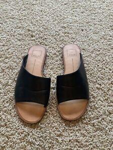 DOLCE VITA Women's Slip On Slide Sandal Black 8.5M