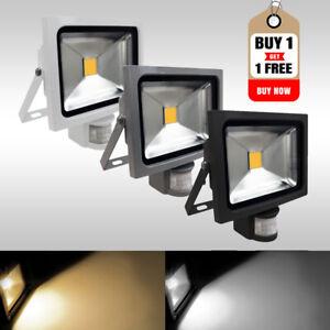 Buy 1 Get 1 Free LED Security Floodlights With PIR Motion Sensor IP65 10W-200W