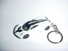 NEW 3D PAGANI HUAYRA CUSTOM KEYCHAIN keyring key top gear WHITE finish SPEED