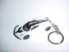 NEW 3D PAGANI HUAYRA CUSTOM KEYCHAIN keyring key top gear WHITE finish SPEED