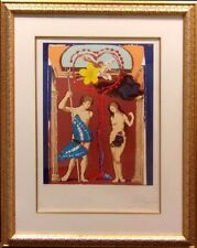 """Salvador Dali""""Triumph of Love-Judgement-The Lovers""""Lithograph Art Hand Signed"""