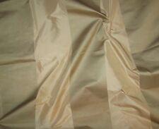 Beige & Sage Green Satin WIDE Stripe Silk TAFFETA Fabric -2 Yards remnant