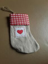 NEW BROWN & RED HANGING STOCKING DECORATION