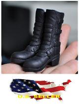 ❶❶1/6 kumik shoes Black Widow Catwoman women black high heeled boots US seller❶❶