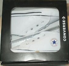 BOY'S CONVERSE ALL ATAR  FIRST STAR HI  WHITE INFANTS SHOES SIZE 4
