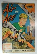 AIR ACE COMICS DEC 1945 V 3 #1 STREET AND SMITH GIANT EYE COVER G/VG- 3.0