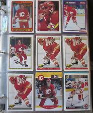 90 +/- Joe Nieuwendyk Hockey Great Calgary Flames Cornell Ithaca sports cards