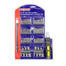 58 Piece Screwdriver Bit Socket Flat Torx Phillips Hex Adaptor Ratchet Driver