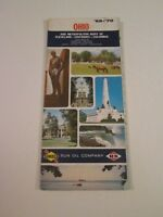 Vintage 1969 Sunoco DX Ohio - Oil Gas Service Station Travel Road Map