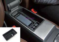Black Car Interior Armrest Storage Box Holder Trim For Audi A3 8V 2014-2019