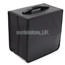 520Disc CD DVD Storage Holder Book Sleeves Carrying Case Zipper Bag Black