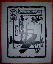 Taillandier Yvon sérigraphie signée figuration libre art brut salon de mai art
