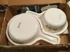 2 vibtage Corning Ware Spice of Life Menuette Skillet Pans P-89-B P-83-B w/ BOX