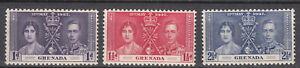 Grenada - 1937 Coronation Sc# 128/130 - MLH (7697)