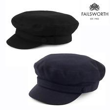 Failsworth Fiddler Wool Mariner Breton Cap Fisherman Sailor Greek Hat Black Navy