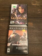 Pc Video Game Lot Of 2 Half Life & Guild Wars