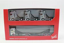 Herpa 311984 Man Tgx Xlx C Truck Transporter Roadtrain 1:87 H0 New Boxed