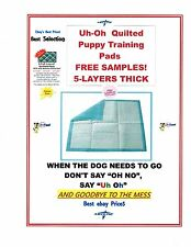 """300 QUILTED PUPPY TRAINING HEAVY PADS FOR DOGS UP TO 30LBS 17X24"""" FREE SAMPLES"""
