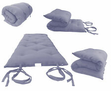 Queen Size Gray Japanese Floor Rolling Futon Mattresses, Thai Mat, Cotton Beds