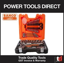 """NEW BAHCO 106 PIECE S106 1/4"""" 1/2"""" DRIVE SOCKET & SPANNER SET IN QUALITY CASE"""