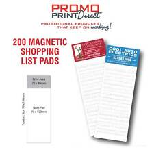 200 Printed Magnetic Fridge Shopping List FREE Artwork & Postage