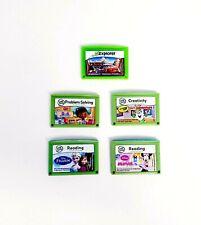 Lot of 5 LeapFrog Leapster Explorer LeapPad Learning Games Disney Cars Frozen