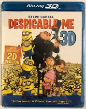 NEW SEALED DESPICABLE ME 3D/2D BLU RAY SHARP EXCLUSIVE EDITION FREE SHIPPING