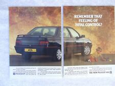PEUGEOT 405 SRI POSTER ADVERT READY FRAME A4 SIZE TWO PAGE C