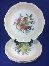 Lenox ORCHARD IN BLOOM Beige Peach & Pear Blossom DINNER PLATES McClung SET OF 4