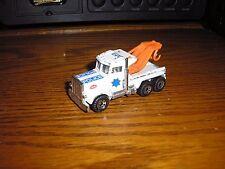 Nice Vintage Matchbox 1/80 Peterbilt Police Heavy Duty Wrecker Tow Truck