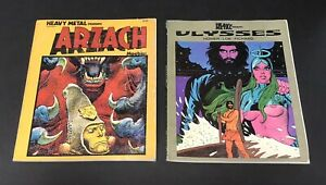 Heavy Metal Presents Arzach By Moebius & Ulysses By Homer Lob Pichard