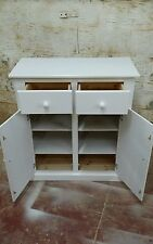 HANDMADE AYLESBURY WHITE SIDEBOARD 2 DRAWER & 2 SHELVES **READY ASSEMBLED**