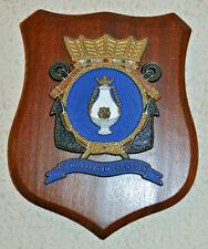 Hr Ms Abraham Crijnssen plaque shield crest Dutch Navy gedenkplaat HNLMS
