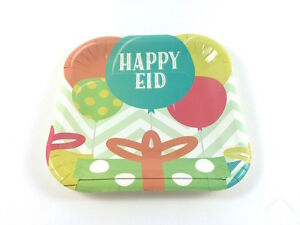Happy Eid Party Dessert Plates Islamic Muslim Holiday Decoration (pack of 10)