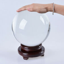 "LONGWIN 200mm 7.87"" D Clear Crystal Ball Glass Sphere Photo Props Free Stand"
