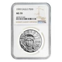 1999 1/2 oz $50 Platinum American Eagle Coin NGC MS 70