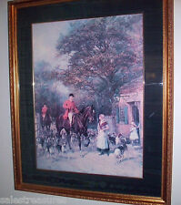 Heywood Hardy 'The Tollgate' Hunting Print Signed, Matted, and Framed in Glass