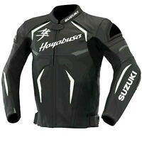 Suzuki Hayabusa Motorcycle Jackets Leather Motorbike Biker Racing Best Quality