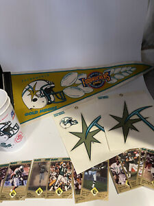 Sacramento Gold Miners Vintage 90s Cards, Cups, Stickers And Pennant CFL