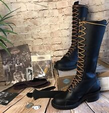 """Wesco Highliner 16"""" Lineman 8716 Side Patch Leather Boots Mens 7D Box & Extras"""