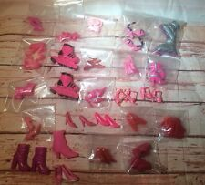 "11 - 14"" and some other sizes Pink Red Doll Shoe Lot Barbie"