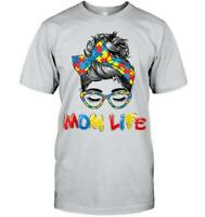 Autism Awareness T-Shirt Autism Mother Mom Life Mother's Day Gift Unisex
