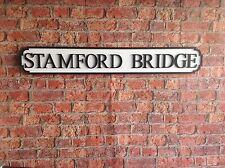 Vintage Wood Street Road Sign STAMFORD BRIDGE