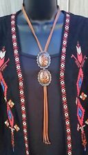 COWGIRL GYPSY SLIDE CONCHO NECKLACE BOLO leather choker  Southwest