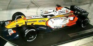 Renault F1 Car, 2007.  1:18 Diecast Model.  'Fisichella'.  Boxed. Hot Wheels. jt