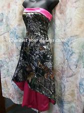 'Erika' Custom Made in the USA CAMO Prom Homecoming Bridesmaids Hi-Lo Dress