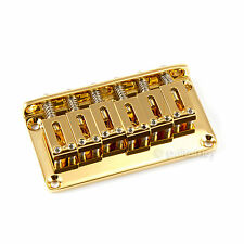 NEW Gotoh GTC101 Non-Tremolo Hardtail Bridge 2-1/16'' spacing w/ screws - GOLD