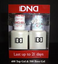 DND Daisy Soak Off Gel Polish Top Coat 400 & Base Coat 500 LED/UV 15ml gel duo