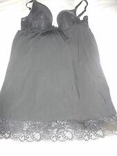 Victoria's Secret Black Lace Babydoll Lingerie Size 34B Used