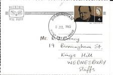 1965 Churchill On Rare Churchill Postcard
